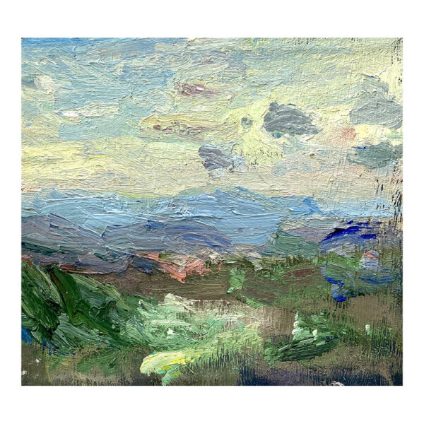 Blick auf Arezzo, 19 x 23 cm, oil paint on canvas