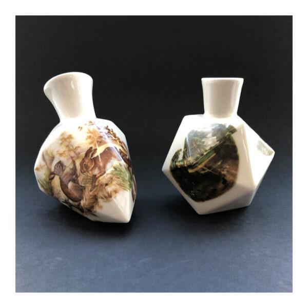 2.Diamantvaasje, 11 x 14 x 9 cm, ceramics
