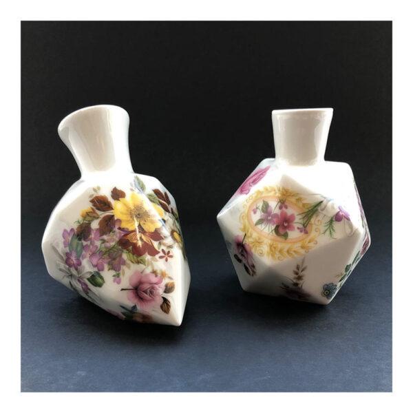 6.Diamantvaasje, 11 x 14 x 9 cm, ceramics