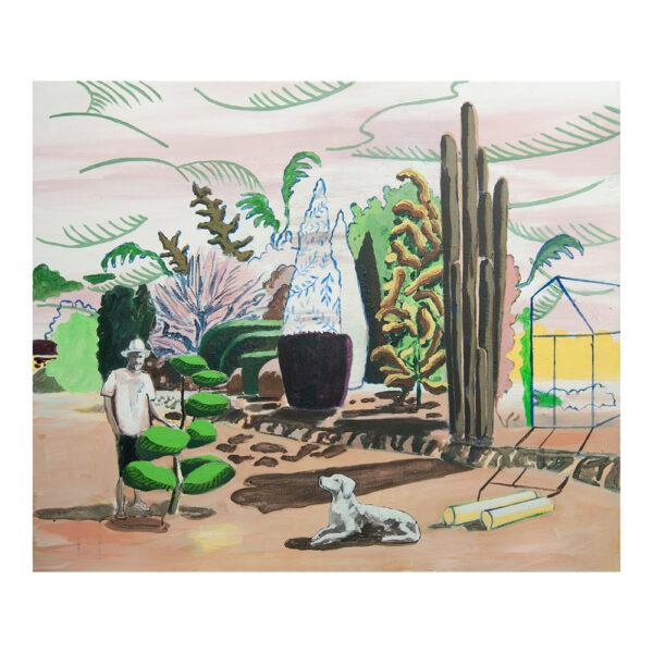 Arboriculteur, 100 x 120 cm, acrylverf, olieverf en pigment op doek