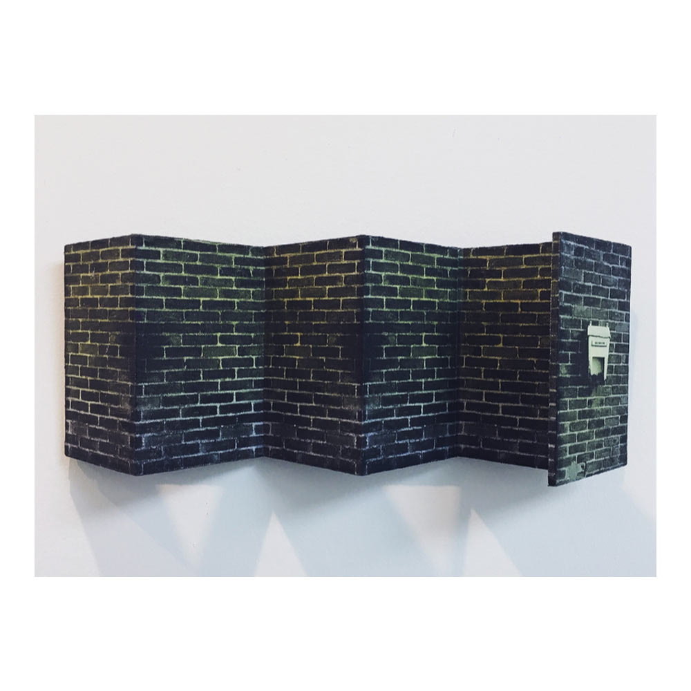 Brieven uit Saga, 15 x 40 x 10 cm, gemengde techniek op paneel