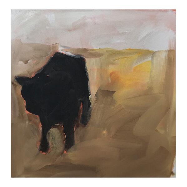 Cow, 50 x 50 cm, acrylverf op doek