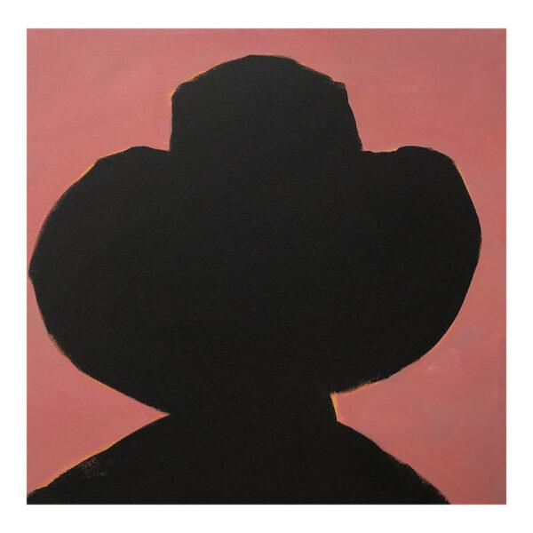 Cowboy #3, 50 x 50 cm, acrylverf op doek