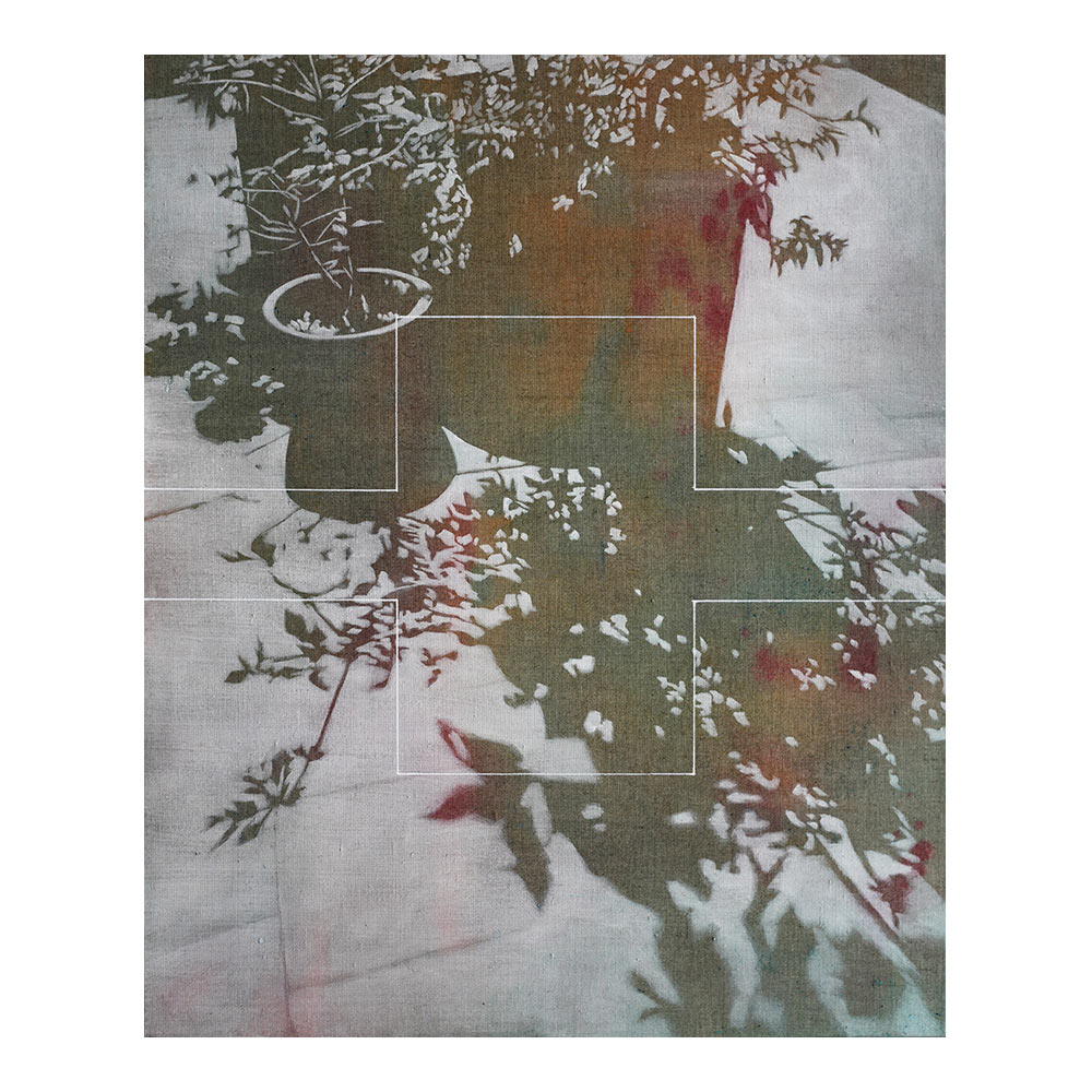 Cultivated Nature #18 B51.934411 L4.465938, 76.5 x 63 cm, acryl op doek