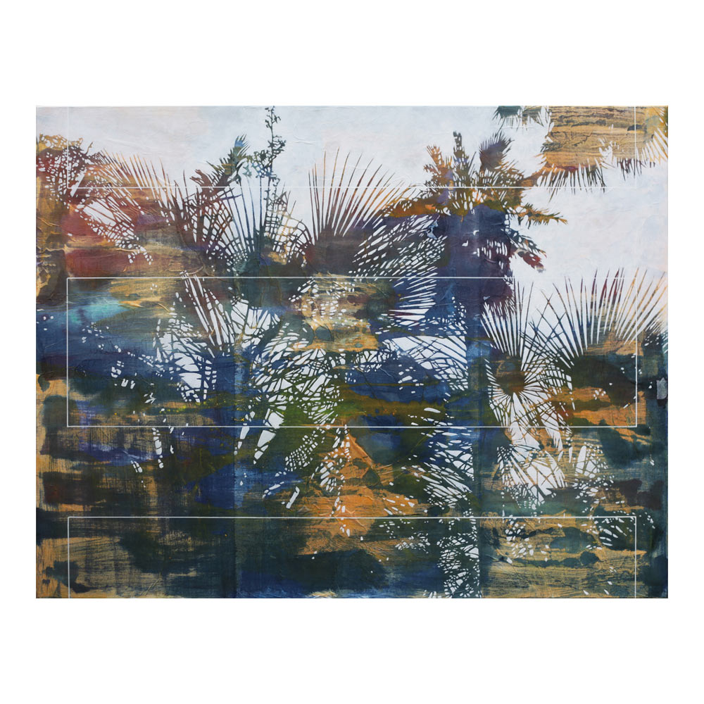 Cultivated Nature #22, 140 x 180 cm, gemengde techniek op doek