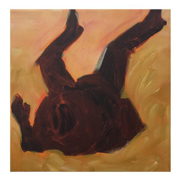 Dead Cowboy #1, 50 x 50 cm, acrylverf op doek