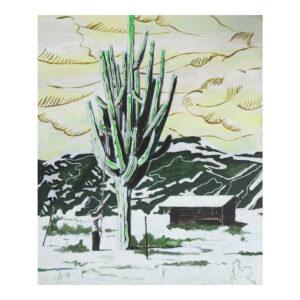 Desertsnow, 120 x 120 cm, acrylverf, ollieverf en pigment op doek