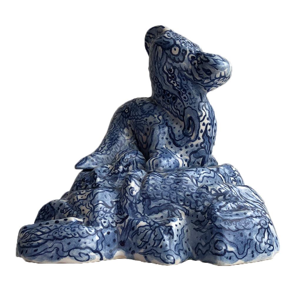 Dragons of Ming, 16 x 19 x 18 cm, keramiek