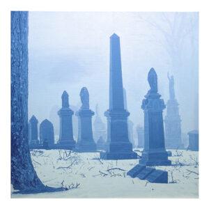 Foggy notion, 60 x 60 cm, olieverf op doek