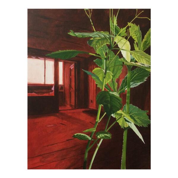 Guerilla Gardening 8, 90 x 70 cm, acrylverf en olieverf op doek