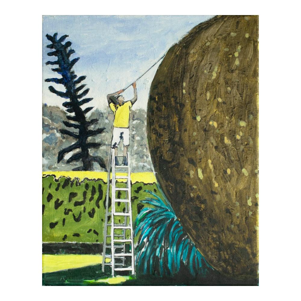 Hedgecutter 3, 50 x 40 cm, acrylverf en tempera op doek