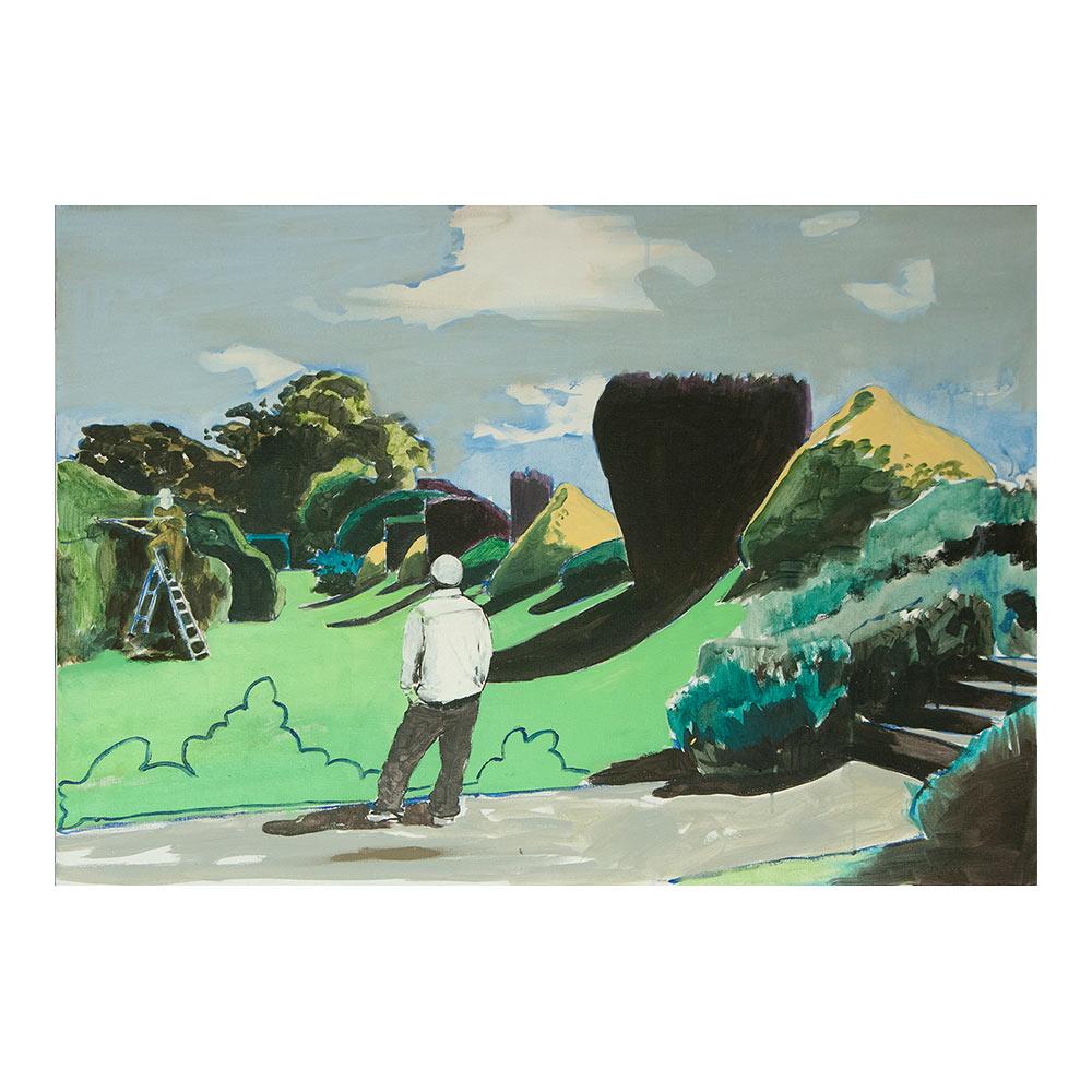 How Men Create The World, 70 x 95 cm, acrylverf, olieverf en pigment op doek
