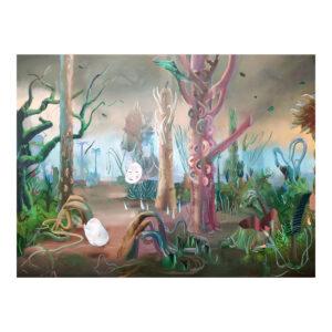 In the Woods, 90 x 120 cm, olieverf op doek