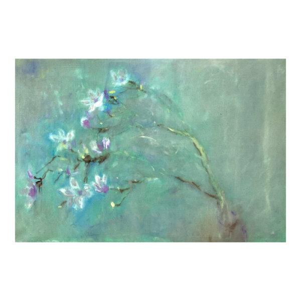 Magnolia 2, 85 x 125 cm, oil paint on canvas