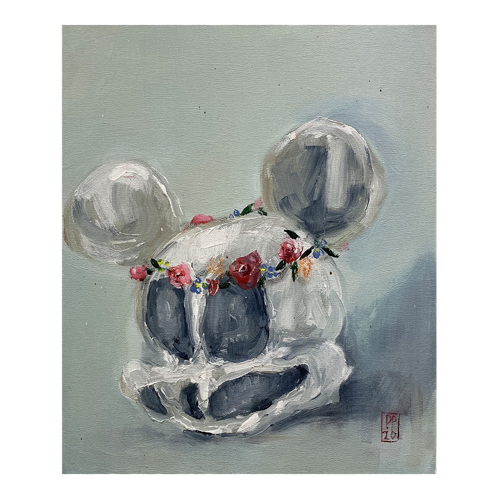 Mickey Forever, 46 x 38 cm, acrylic paint on canvas