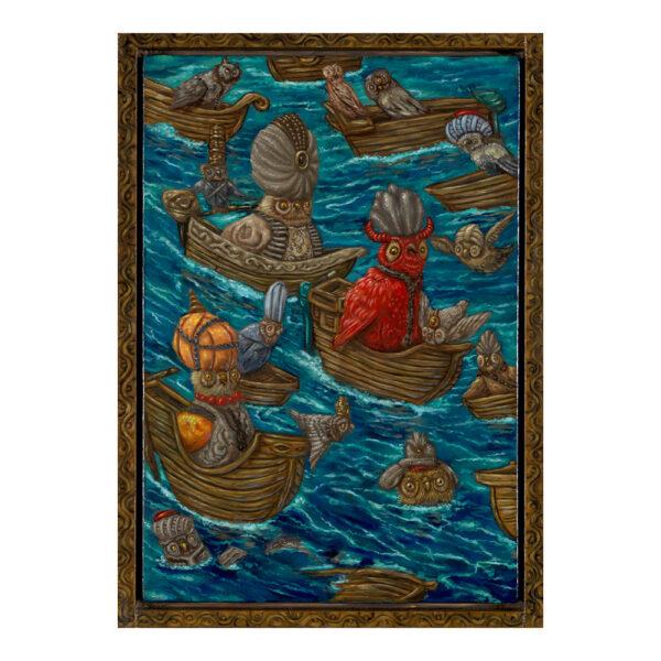 Onderhandelaars (zeeslag der Sultans), 33.5 x 23 cm, olieverf op doek