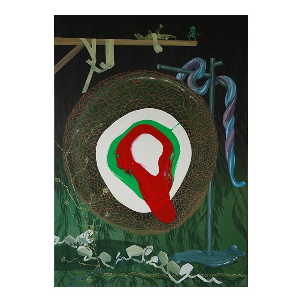 Orbit, 100 x 70 cm, acrylverf op doek