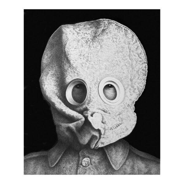 Revolution for the dead, 16 x 13.5 cm, pencil on cardboard in frame 42 x 32.5 cm