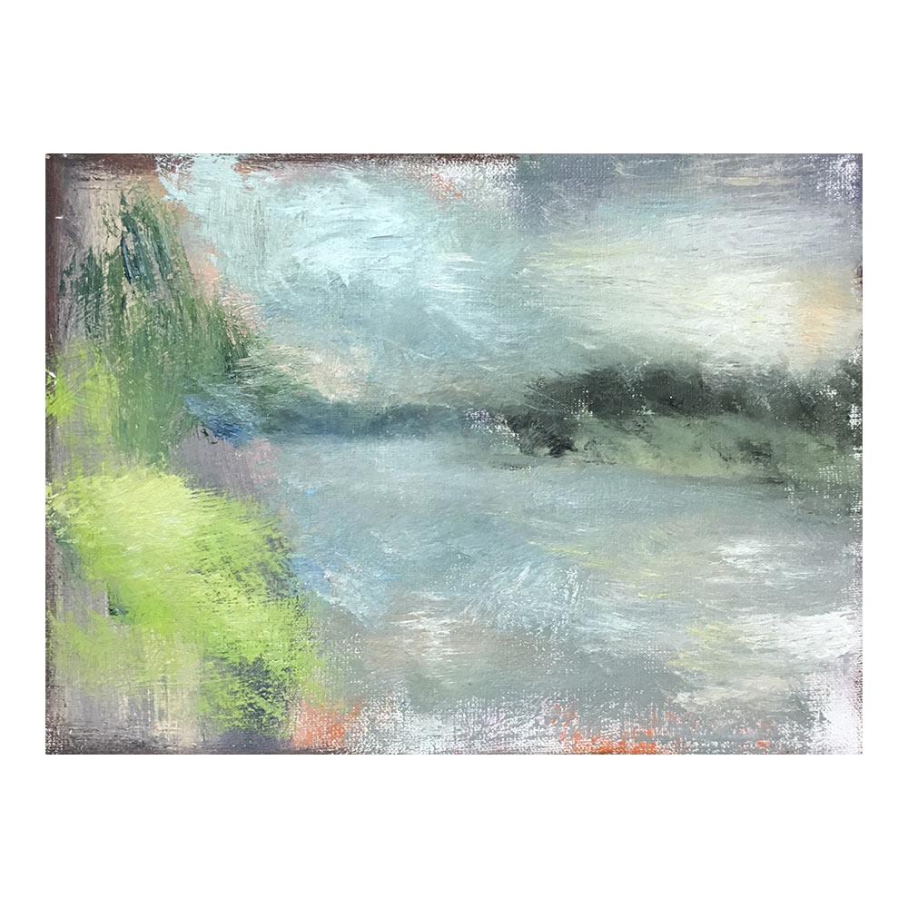 Rhein, 25 x 34 cm, olieverf op doek
