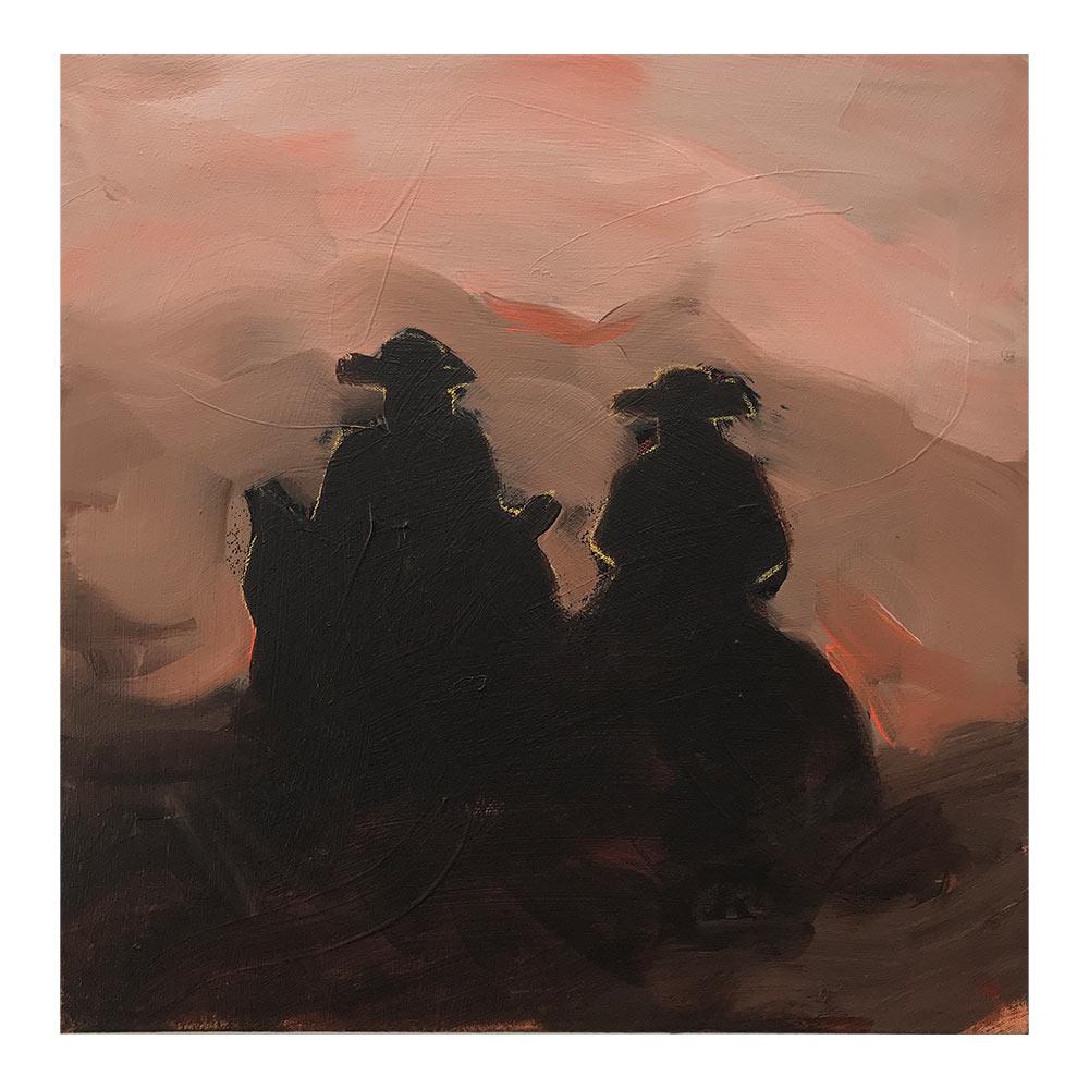 Riders on the Storm, 50 x 50 cm, acrylverf op doek