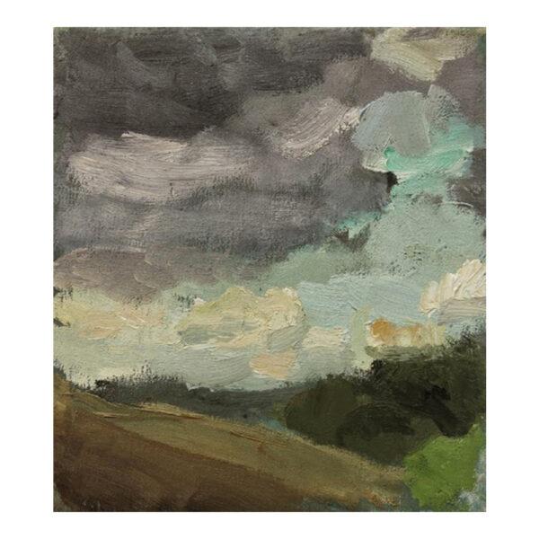 Schwarzbachtal, 22 x 20 cm, oil paint on canvas