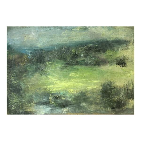 Schwarzbachtal, 29 x 42 cm, oil paint on canvas