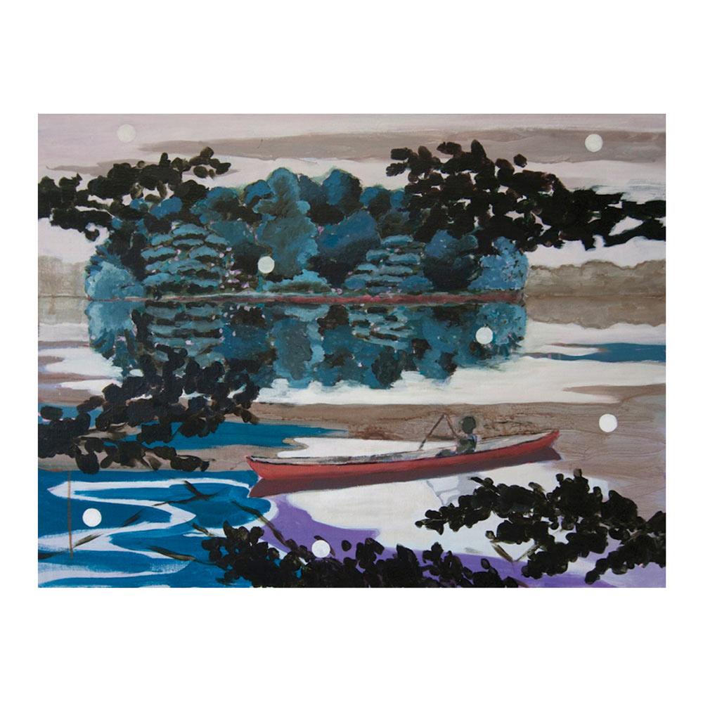 Searching for Good Land, 60 x 80 cm, acrylverf en olieverf op doek