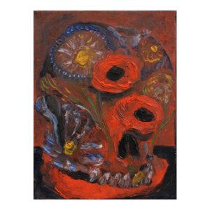 Skull, 24 x 18cm, olieverf op doek
