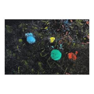 Speelveld, 10 x 15 cm, gemengde techniek op paneel