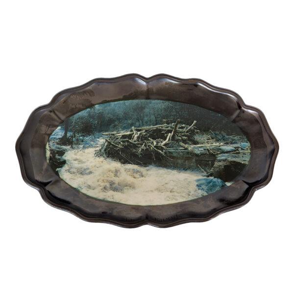 The Floods 1, 31 x 46 x 2 cm, ceramics