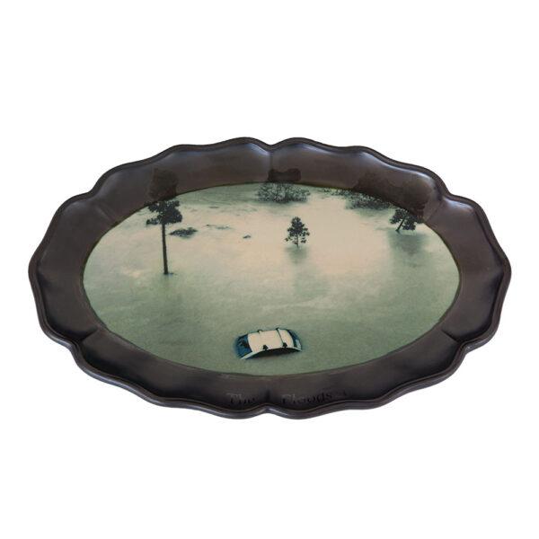 The Floods 3, 31 x 46 x 2 cm, ceramics