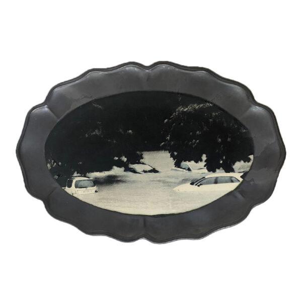 The Floods 6, 31 x 46 x 2 cm, ceramics