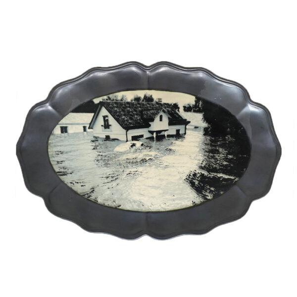 The Floods 5, 31 x 46 x 2 cm, ceramics