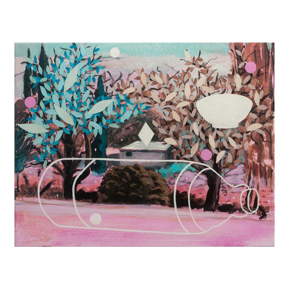Tiempo de la pacha mama, 40 x 50 cm, acrylverf en tempera op doek