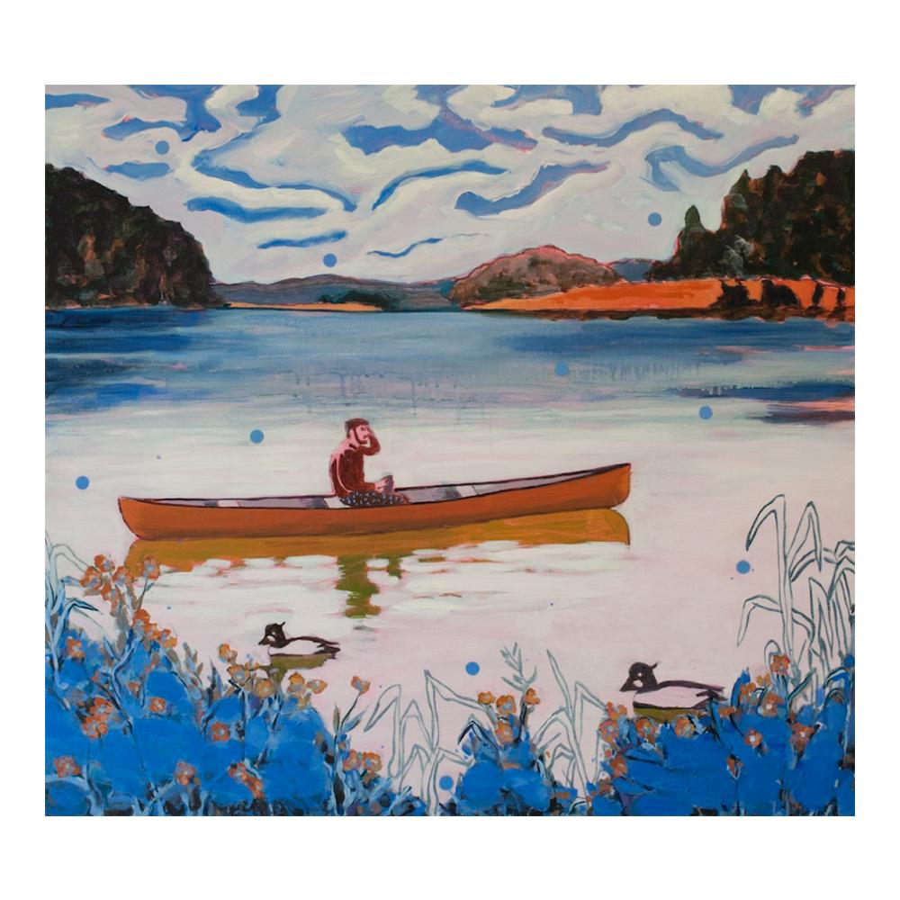 Under the blue, 85 x 95 cm, acrylverf en olieverf op doek