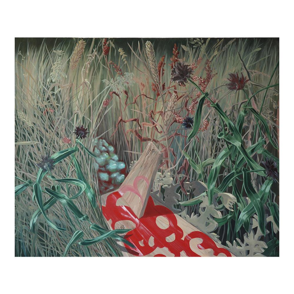 Wiese II (Meadow II), 100 x 120 cm, olieverf op doek