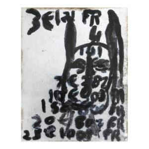 Zevenentachtig min vier, 18,5 x 14,5 x 3 cm, keramiek met groene zijkant