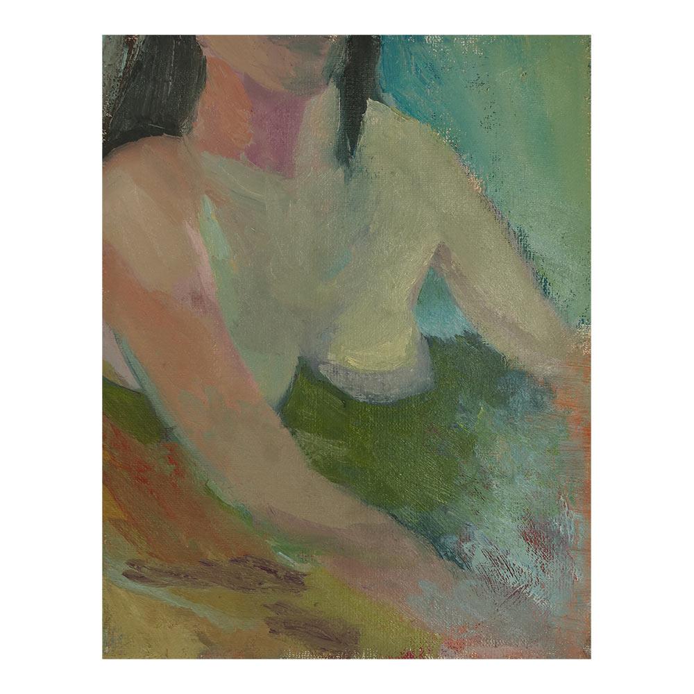 im Wasser, 33 x 26 cm, oil paint on canvas