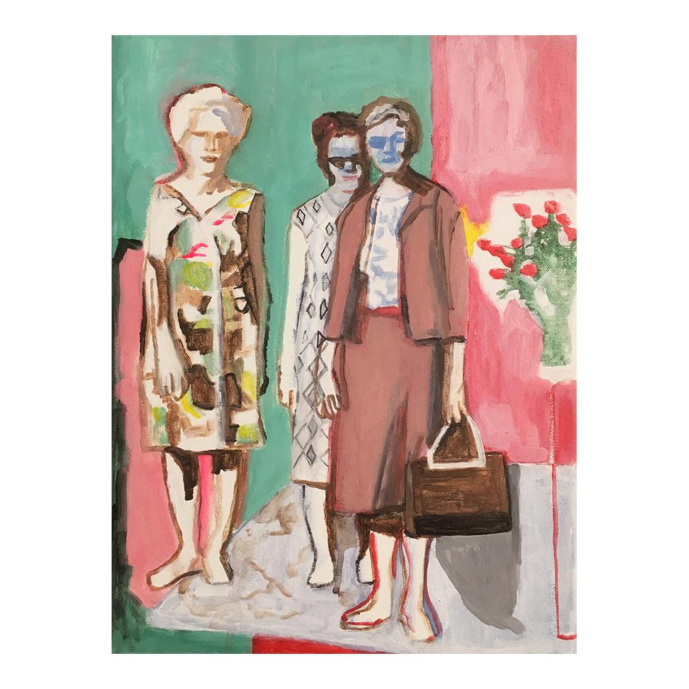 what we are, 40 x 30 cm, acrylverf op doek